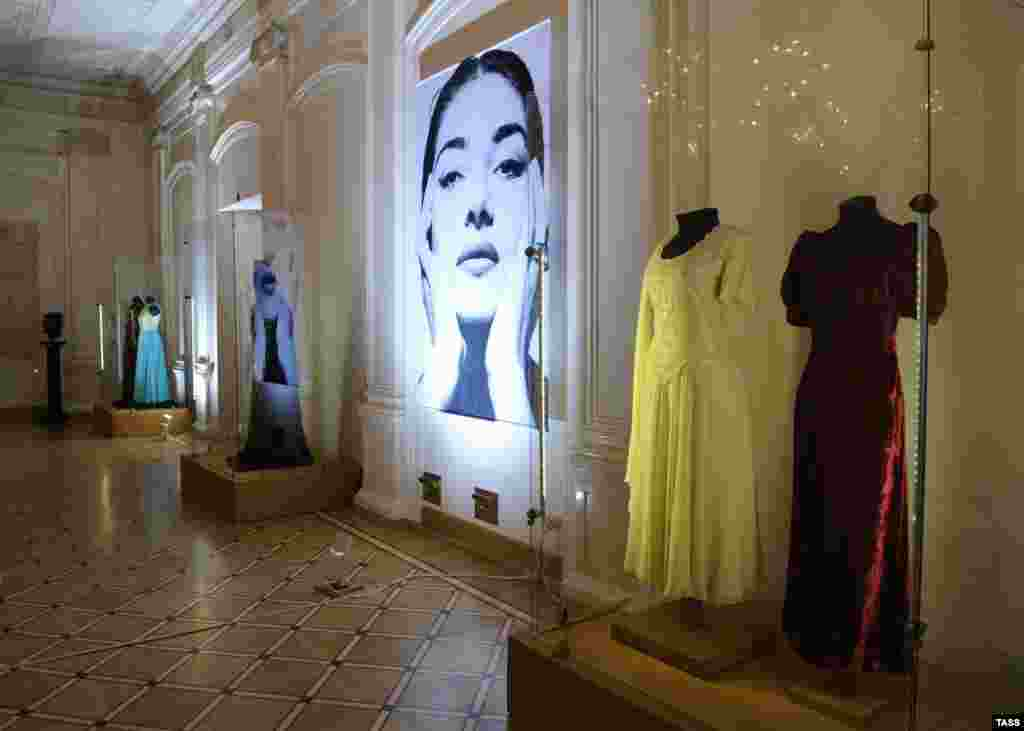 "Opening of the exhibition ""Maria Callas Forever…"" in St. Petersburg, Russia on November 3, 2011"