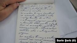 Punând poporul la cale. O pagină dintr-un caiet al lui Ceaușescu. Arhivele Naționale.