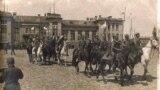 Вступ 1-го Запорізького пішого полку імені Гетьмана Дорошенка до Бахмута, квітень 1918 рік