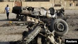 Після вибуху, місто Махмудія, за 30 кілометрів від Багдада