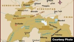 Tajikistan -- A map of Republic of Tajikistan, 20Apr2012