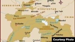 Tajikistan -- A map of Republic of Tajikistan, 20Apr2012