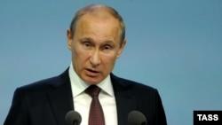 Ռուսաստանի նախագահ Վլադիմիր Պուտինը ելույթներից մեկի ժամանակ