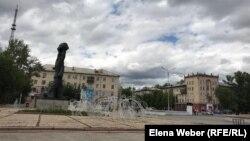 Проспект Бухар-жырау в Караганде, административном центре Карагандинской области. 19 июня 2020 года.