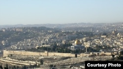Israel - Panorama of old Jerusalem, view from Mount Scopus, Nov2006