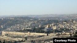 Vechiul Ierusalim văzut de pe muntele Scopus