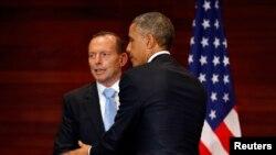 أوباما ورئيس الوزراء الأسترالي توني آبوت
