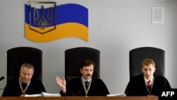 Judges in Kyiv presiding over the treason trial of ousted President Viktor Yanukovych
