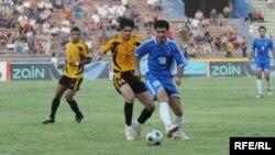 من مباراة بين فريقي النجف وأربيل في عام 2009