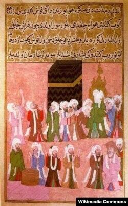 Həzrəti Məhəmməd Kəbədə