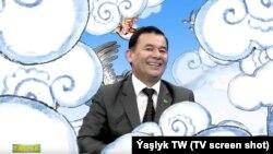 Türkmen TW-siniň alyp baryjysy we şorta Aşyrmyrat Gurbanow. Arhiw suraty