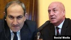 Armenia -- Parliament deputies Nikol Pashinian (L) and Artashes Geghamian.