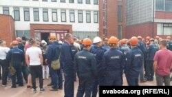 Рабочыя ў Новаполацку выйшлі на страйк, жнівень 2020 г.