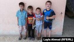 أطفال نازحون في متوسطة غرناطة بمنطقة الطالبية ببغداد