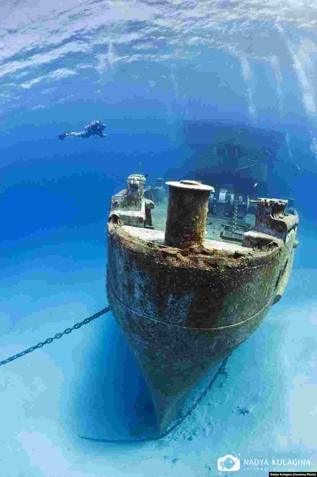 """...the Caribbean for its diversity and great visibility..."" (pictured: ""USS Kittiwake,"" scuttled in Grand Cayman)"