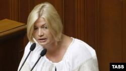 Уповноважена президента України із врегулювання конфлікту в Донецькій та Луганській областях Ірина Геращенко