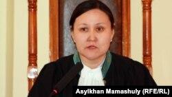Гулмаржан Адилсултани, судья по делу о полицейских. Актау, 27 апреля 2012 года.