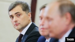 The leaked e-mail trove includes those purportedly from the e-mail account of senior Kremlin aide Vladislav Surkov.