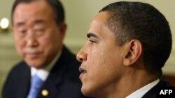 Президент США Барак Обама і генеральний секретар ООН Пан Ґі Мун (архівне фото)
