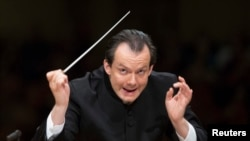Latvia's Andris Nelsons is the music director of the Boston Symphony Orchestra.