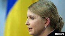 Украинаның бұрынғы премьер-министрі Юлия Тимошенко. Киев, 1 сәуір 2014 жыл. (Көрнекі сурет)