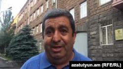 Аракел Мовсисян по выходе из здания СНБ, Ереван, 26 июня 2018 г.