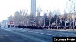 Похорон сепаратиста Михайло Толстих на прізвисько «Ґіві». Донецьк, 10 лютого 2017 року