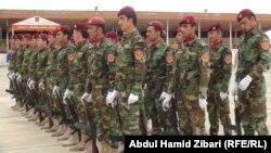 مراسيم تخرج فوج من قوات البيشمركة في معسكر نمور زيرفاني باربيل