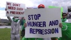 Граждане Туркменистана в США провели акцию протеста против режима Бердымухамедова