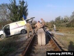 Заблокована під'їзна колія до «Кримського титану», 28 січня 2015 року