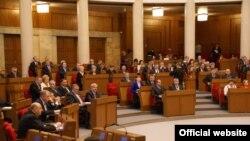 Паседжаньне Палаты прадстаўнікоў у «Авальнай залі», архіўнае фота