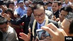 Sam Rainsy u Phnom Penhu, fotoarhiv