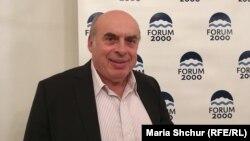 Натан Щаранський, колишній радянський дисидент, державний діяч Ізраїлю під час «Форуму 2000» у Празі