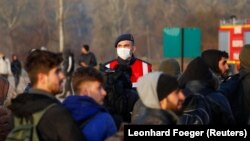 Pripadnik turske žandarmerije u blizini tursko-grčke granice, Edirne, 3. mart