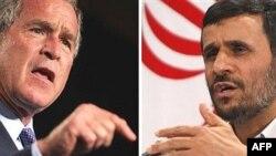 Američki predsjednik George W. Bush i predsjednik Irana Mahmud Ahmadinejad
