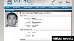 """Скриншот раздела """"Розыск"""" с официальной страницы Интерпола"""