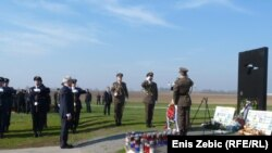 Serbian President Boris Tadic pays his respects to the more than 200 victims killed by Belgrade-led troops in 1991 near Vukovar, Croatia.
