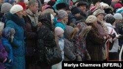Участники митинга-протеста в Иркутске