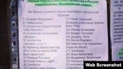 """Черный список """"предателей"""", составленный аналитиком Сергеем Марковым и опубликованный в Facebook."""