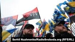 Фото з ходи націоналістів, 22 лютого 2017 року