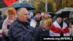 Мікола Статкевіч падчас леташняга «Маршу абураных беларусаў» у Менску