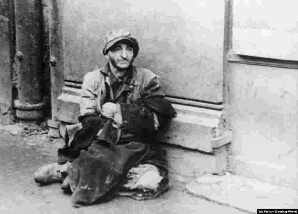 A beggar in the ghetto