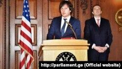 ირაკლი კობახიძე და დავით ბაქრაძე აშშ-ის კონგრესში გამართულ მიღებაზე