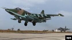Ресейдің СУ-25 жойғыш ұшағы (Көрнекі сурет).