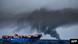 Migranti na Sredozemnom moru, ilustracija