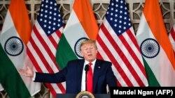 دونالد ترمپ رئیس جمهوری ایالات متحده امریکا حین سخنرانی در هند. February 25, 2020