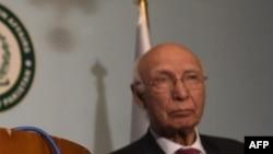 سرتاج عزیز مشاور امور بینالمللی صدراعظم پاکستان