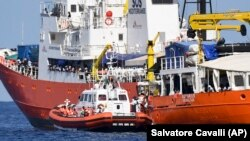 The Aquarius vessel has helped rescue some 30,000 migrants in international waters. (file photo)