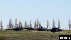 Російські гелікоптери на кордоні з Україною, 25 квітня 2014 року