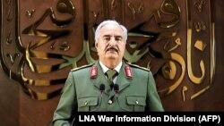 Russia backs strongman Khalifa Haftar in Libya.